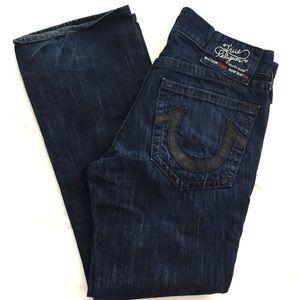 True Religion Bobby straight leg dark pocket patch